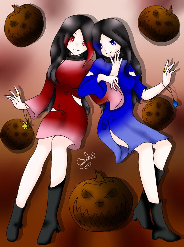 Mascot? Halloween_twins_by_salyadarken-dbprwqz