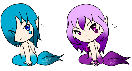 .:Adopt:. Mermaids [open] by SalyaDarken