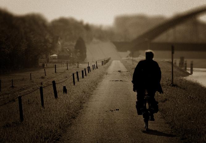Early morning Biker