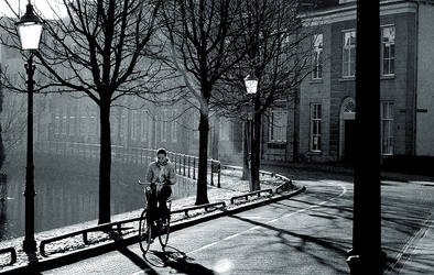 Girl on Bycicle by speedonl