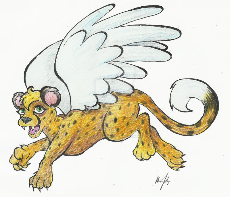 Isra the Flying Cheetah Cub by LaEmperatrizMariana