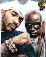 Mobb Deep Airbrushed T-Shirt by PrimoOne