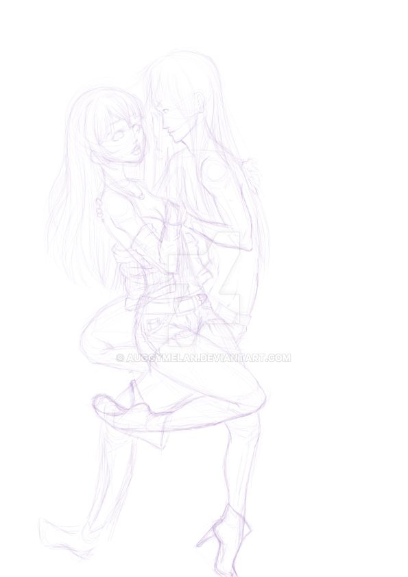 Allory and Levi - Into You WIP by Auggymelan