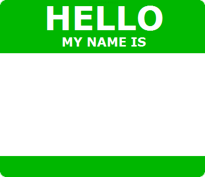 Hello id template green by love the fuzzy on deviantart for Hello my name is sticker template
