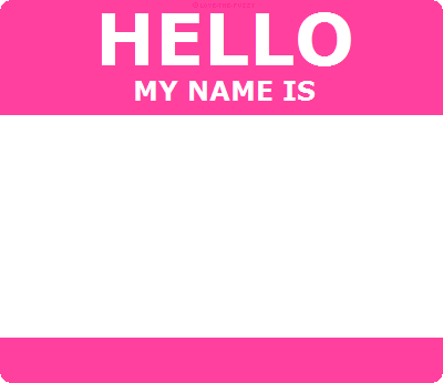 Hello id template pink by love the fuzzy on deviantart for Hello my name is sticker template
