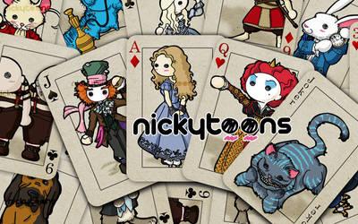 Alice in Wonderland Cards by NickyToons