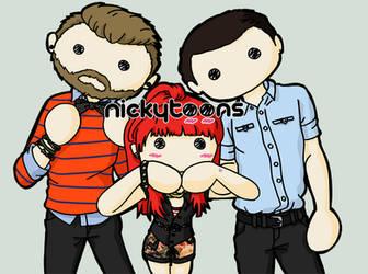 Paramore Trio by NickyToons
