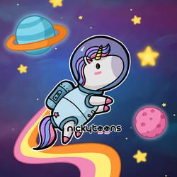 NickyToons Space Unicorn by NickyToons