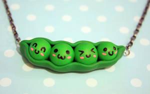 Happy Pea Pod Necklace by CraftyTash