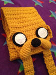 Crocheted Jake the Dog Scarf