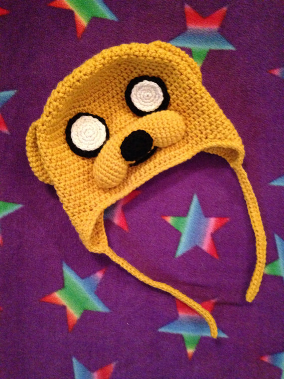 Crocheted Jake The Dog Hat By Craftytash On Deviantart