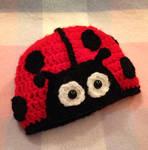 Crocheted Ladybird Hat