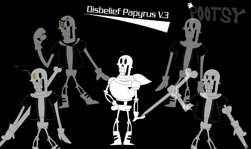 disbelief papyrus completepootstablook on deviantart