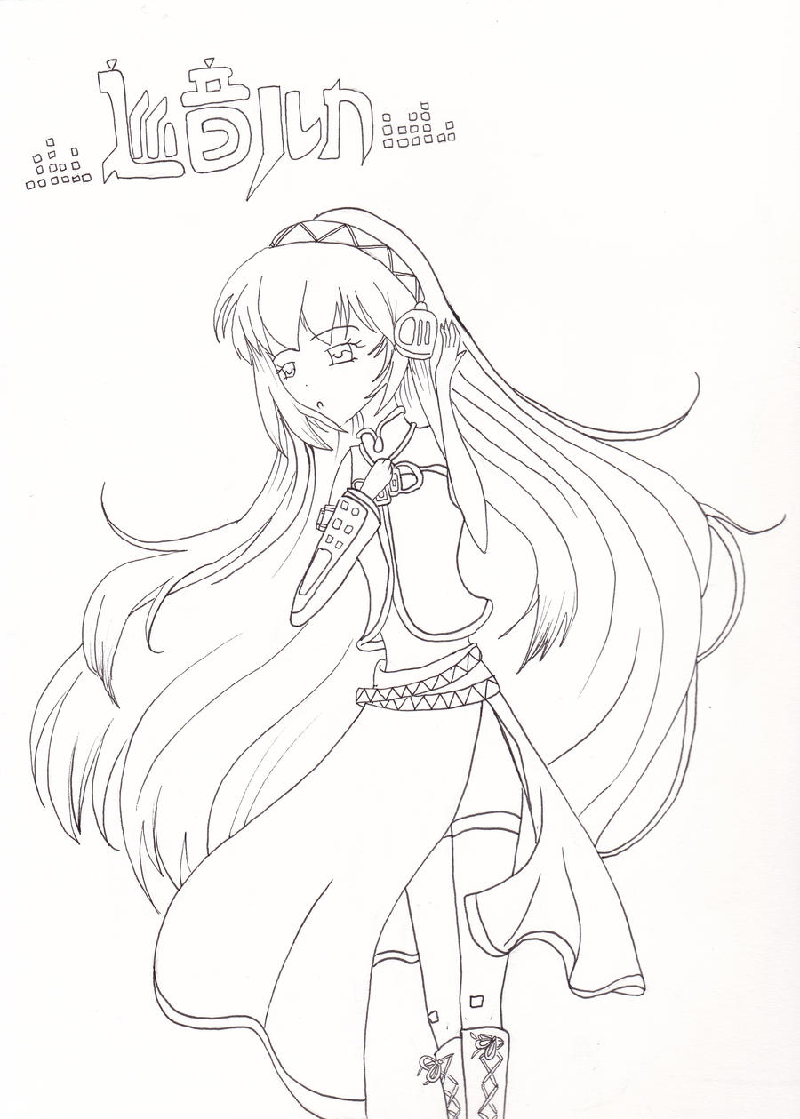 Vocaloid Luka Line Art Coloring Page By Neosailorcrystal On Deviantart
