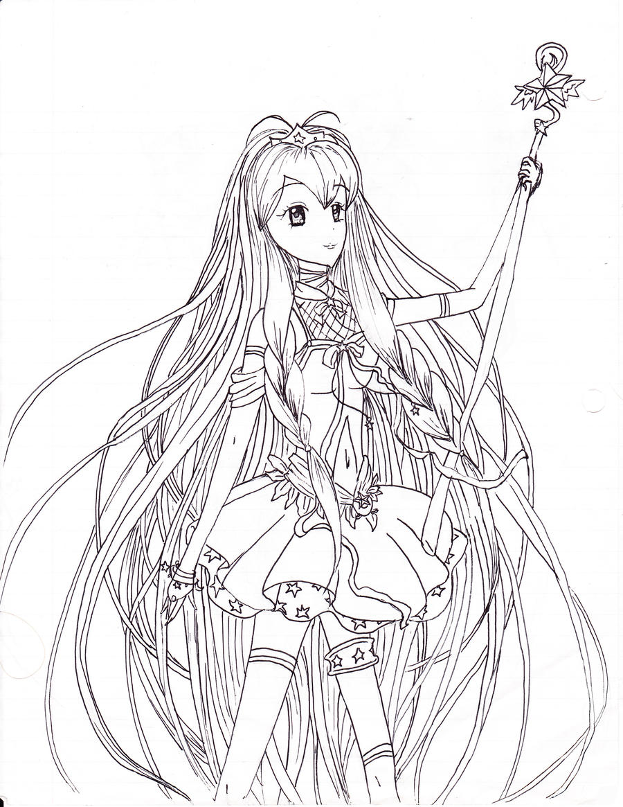 star princess line art coloring page by neosailorcrystal on deviantart
