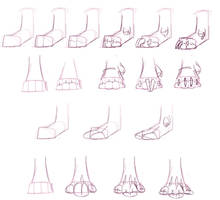How to draw Guardian Feet by Sindonic