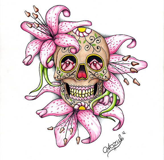 the gallery for gt lady sugar skull drawings