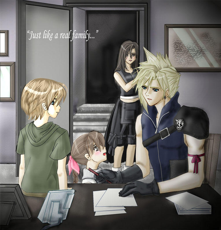 Just Like a Real Family. by Cloud-x-Tifa-Club on DeviantArt  Final Fantasy Cloud And Tifa Fanfiction