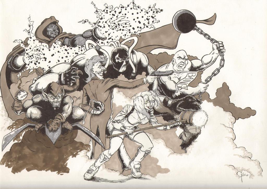 The Super-Villain Dreamteam by ben1804