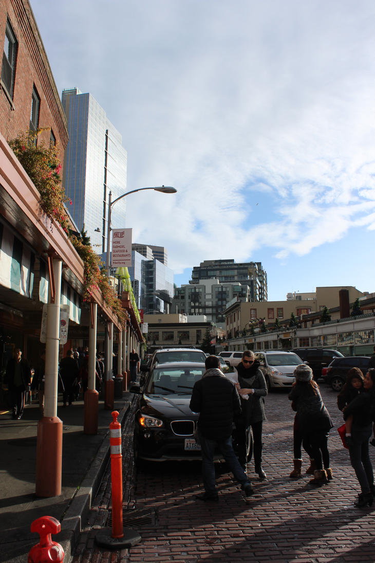 Street at Pike's Place by JW89