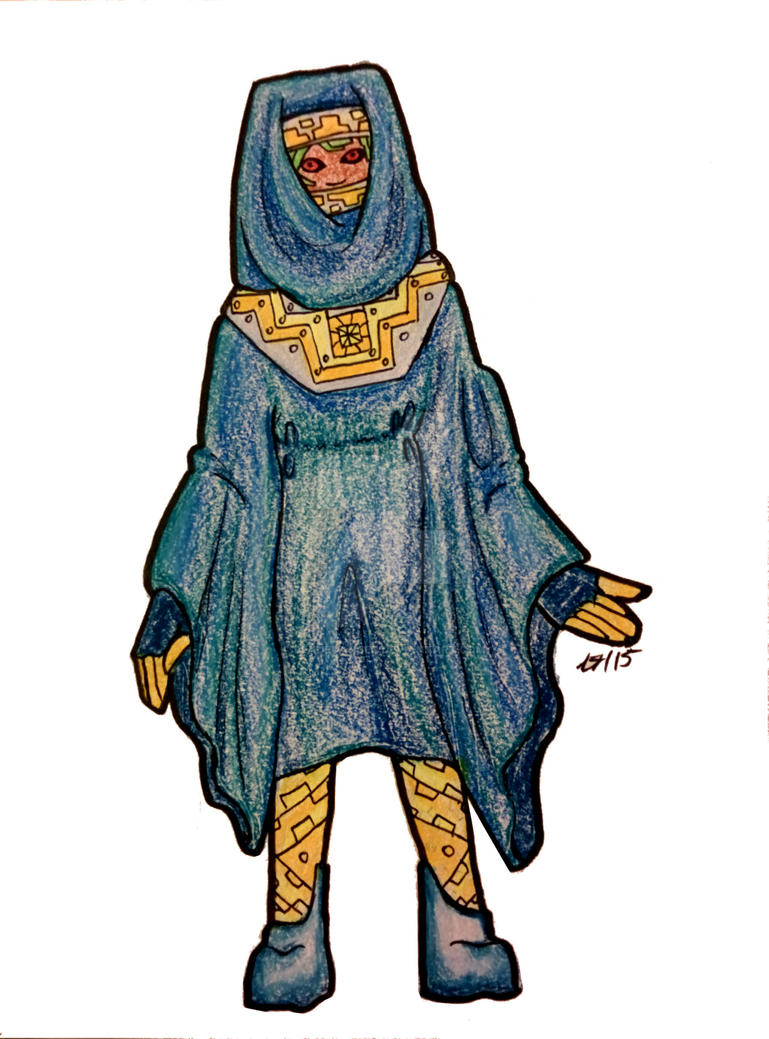 Mercurian Sun Priest travel clothes by Bladedancer