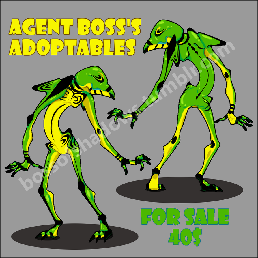 Shiny Green Adoptable by Bladedancer