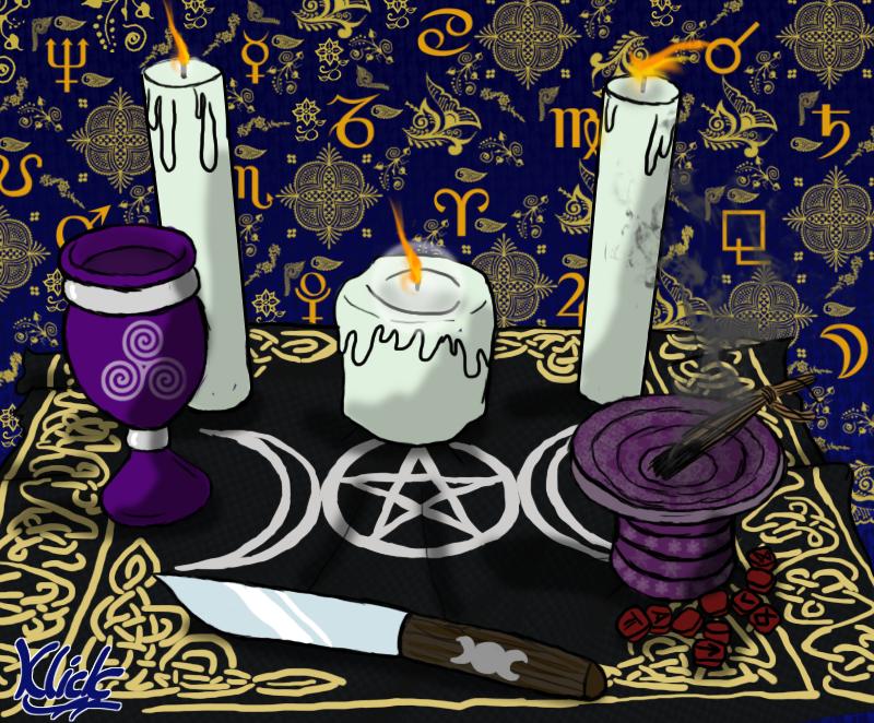 Samhain Altar by KlickWitch