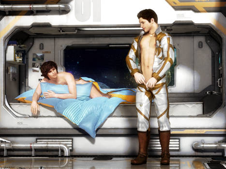 Lazy mornings in space