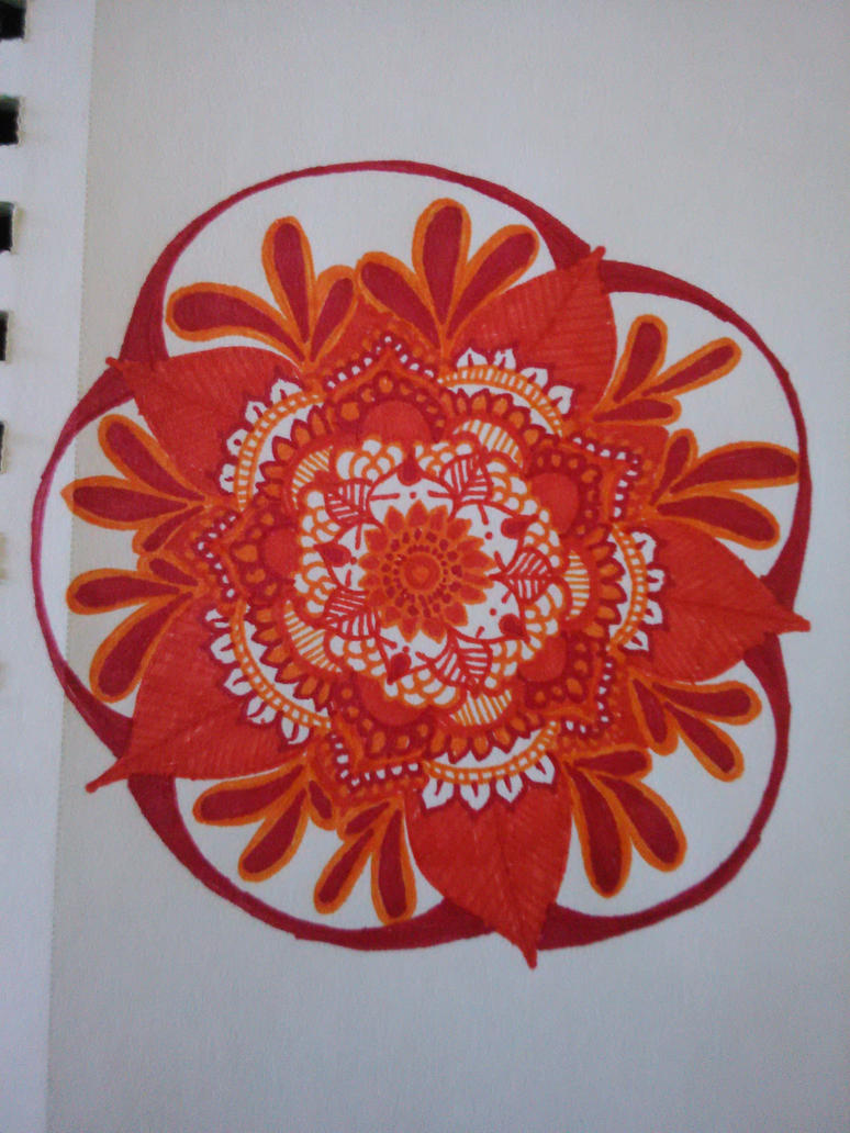 orange mandala by girtheninja21