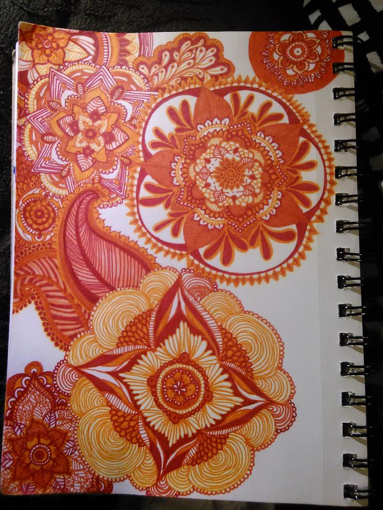 orange mandala continued by girtheninja21