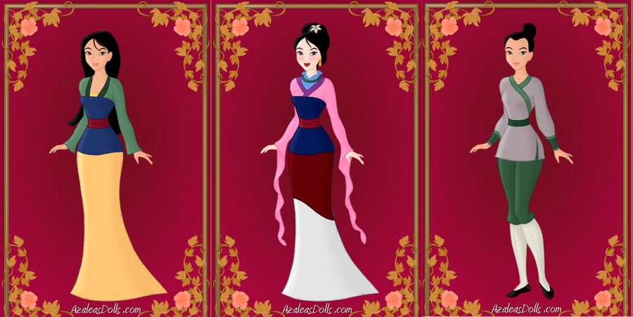 Mulan Outfits by lauraboo123 on DeviantArt Disney Princess Costumes For Women