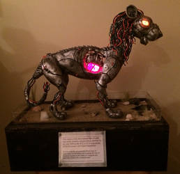 Lights off lion 2.0 by AstaraBriarart