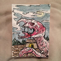 Beastly cry ACEO trade~ by AstaraBriarart