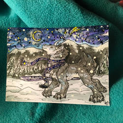 Starry Night ACEO Trade
