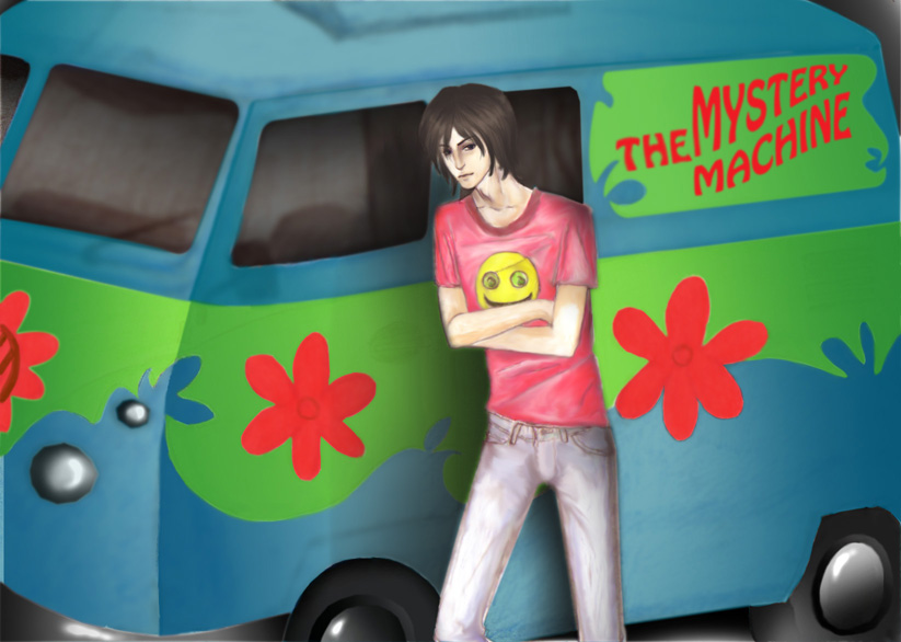 Stefan and Mystery Machine by MagicTea