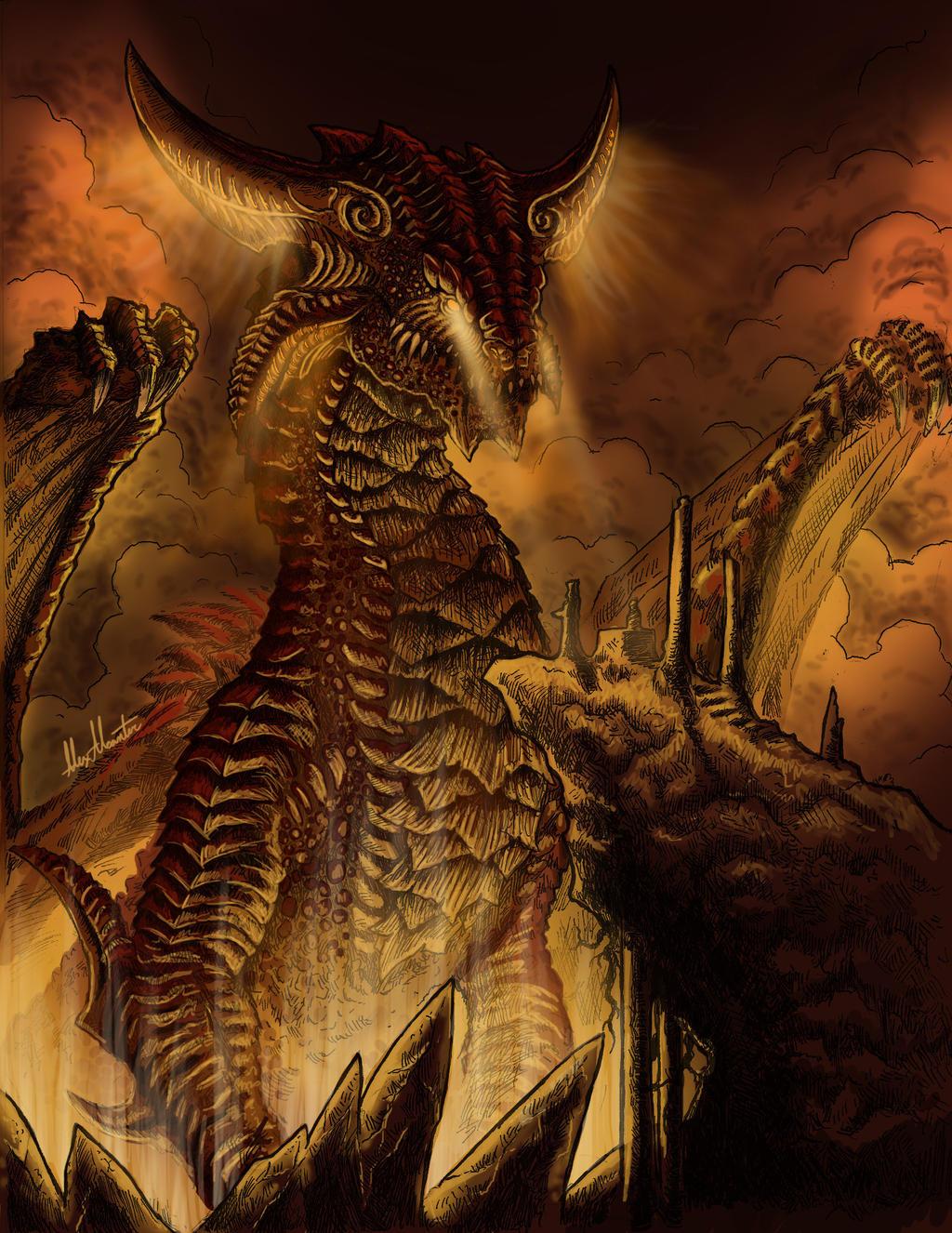 dragon god by virus91 on deviantart