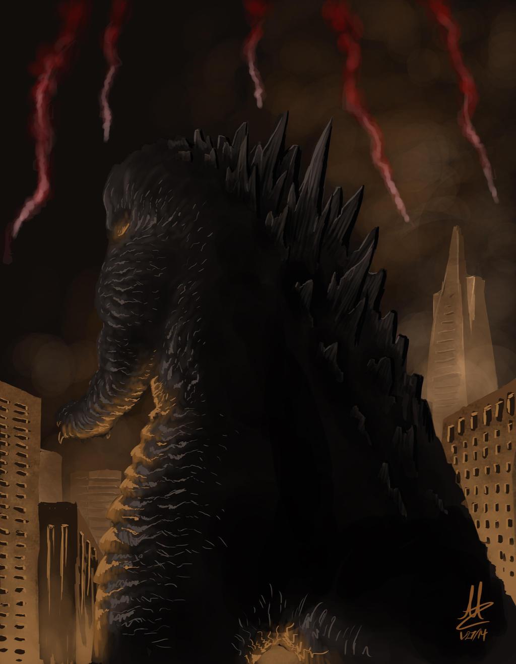 Godzilla 2014 by Virus-91