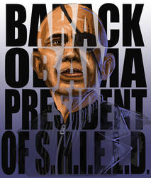 Barack Obama President of Shield by Virus-91