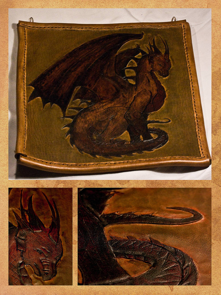 Dragon in leather