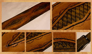 Another leather guitar strap