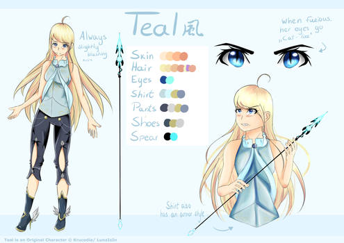 Teal reference sheet