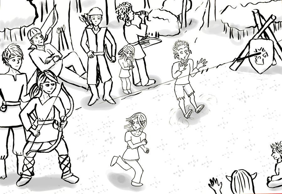Archery contest by Kwilia