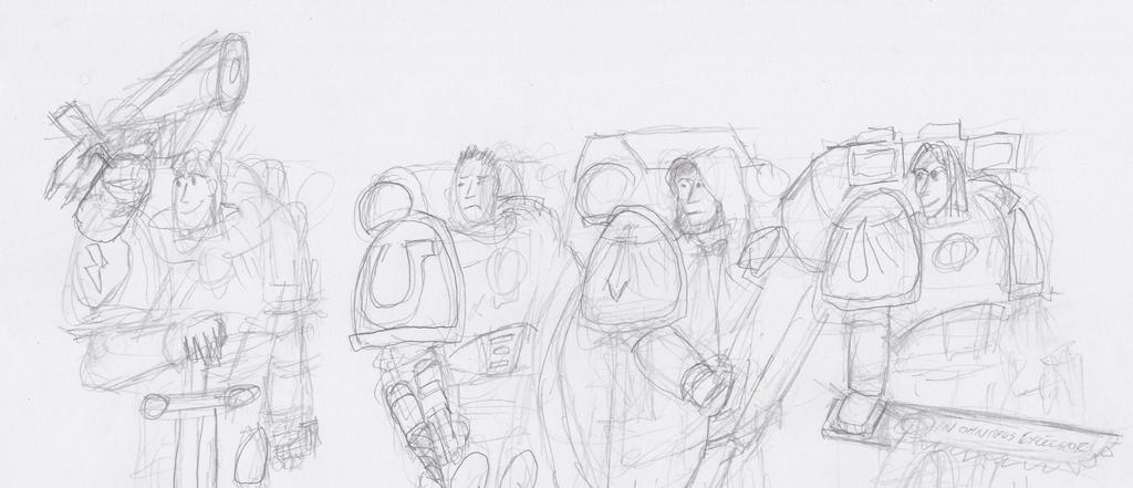 Kill-team Atromitos: 'Contained Badassery' line-up by ByRobF