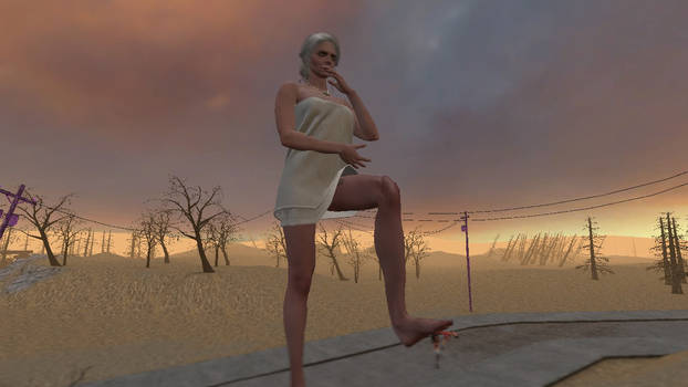 Giantess Ciri squashes Femscout 3