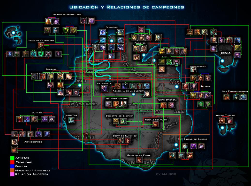 Ubicacion y Relaciones de Campeones (Runaterra) by makior ...