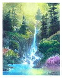Nature Waterfall by Kariatyda