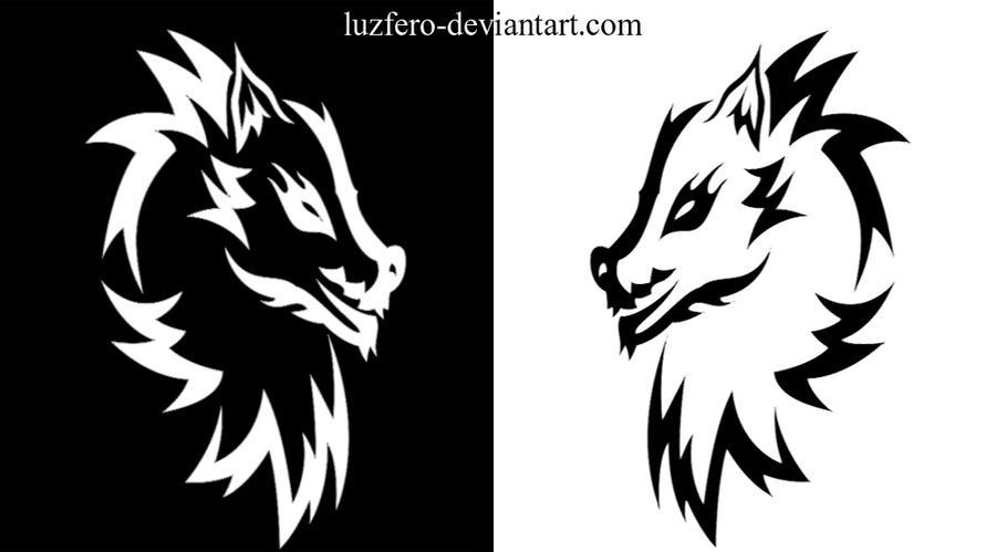 lobos-tribales by luzfero on DeviantArt