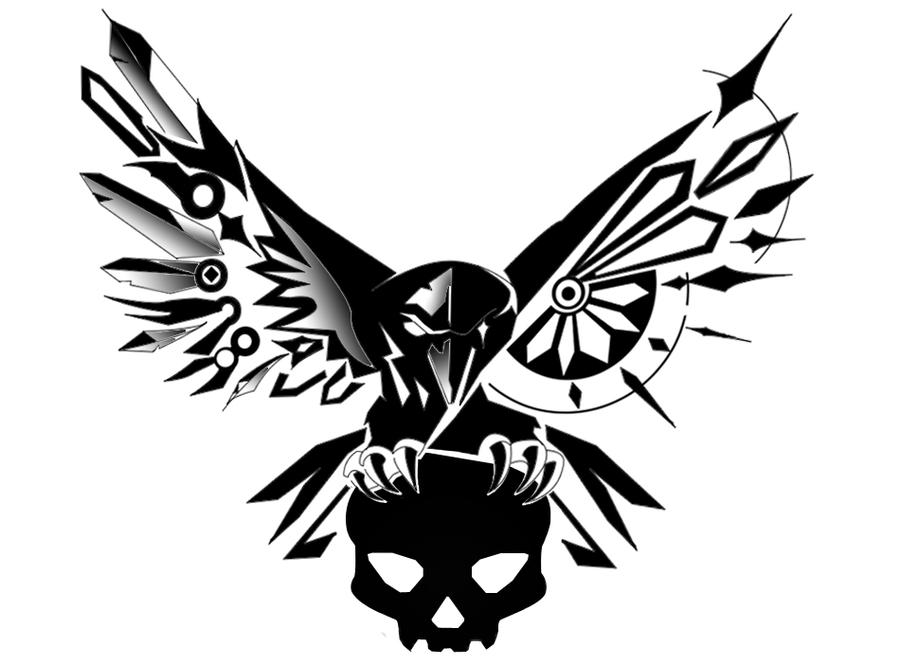 top tribal raven and crow tattoos images for pinterest tattoos. Black Bedroom Furniture Sets. Home Design Ideas