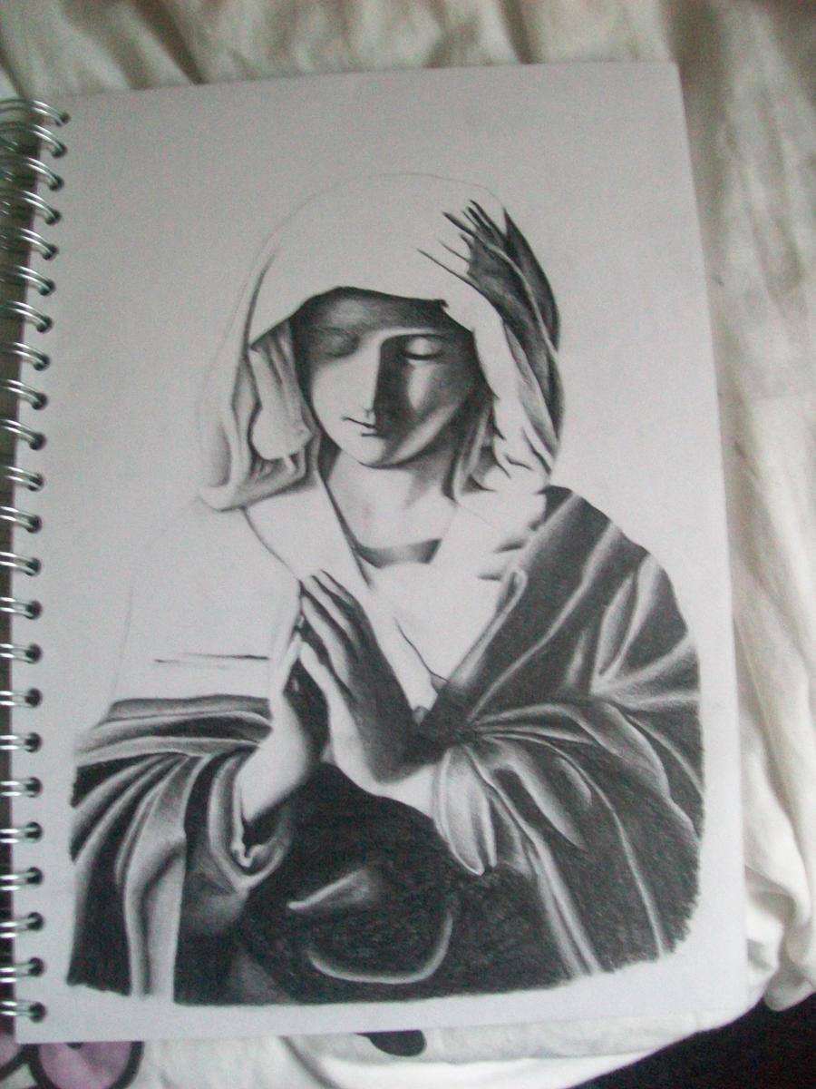 Virgin Mary by wertiod on DeviantArt
