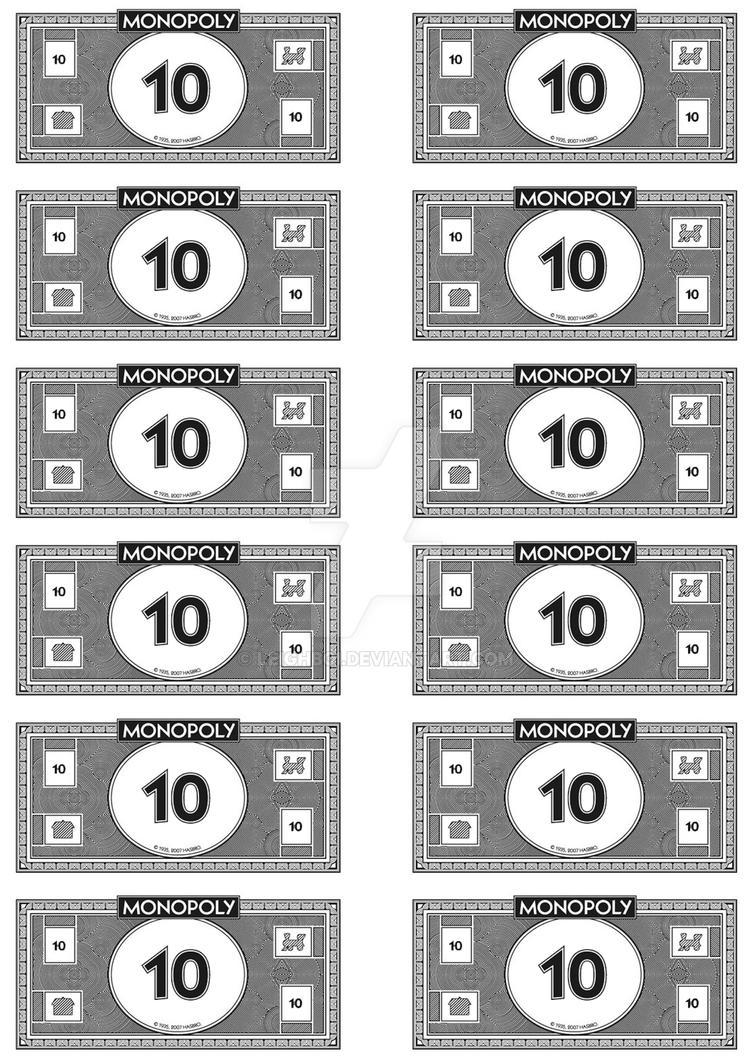 Monopoly Money - 10's by Leighboi on DeviantArt